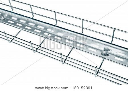 Metal wire cable tray installation of current-carrying wires with a partition made of tin
