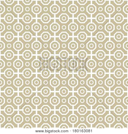 Geometric abstract vector octagonal golden background. Geometric abstract ornament. Seamless modern pattern