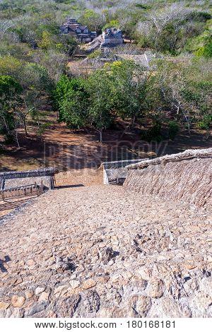 Stairs Down A Mayan Pyramid