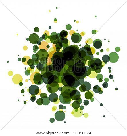 Abstract round background on white (raster illustration) poster