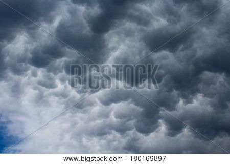 A dramatic sky after the heavy storm