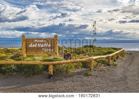 Del Valle Viewpoint, Los Antiguos, Argentina