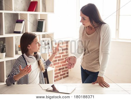 Mom And Troubled Daughter