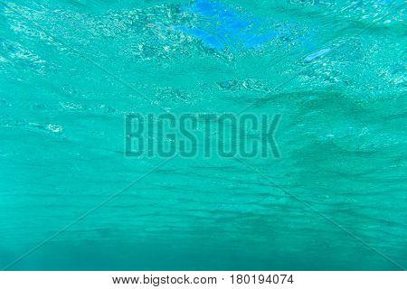 Underwater Blue Background With Sunbeams