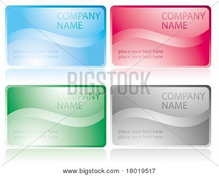 set of glossy business cards