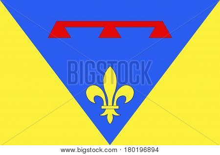 Flag of Var is a department in the Provence-Alpes-Cote d'Azur region in Provence in southeastern France. Vector illustration