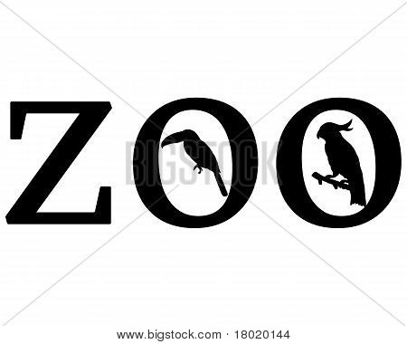 Detailed and colorful illustration of zoo animals poster