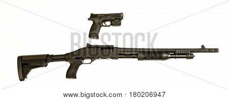 Pistal And Shotgun