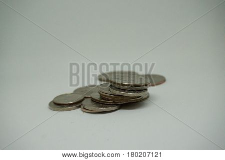 This is a image of money on a white background.