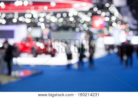 Image Blurred event with people and  background