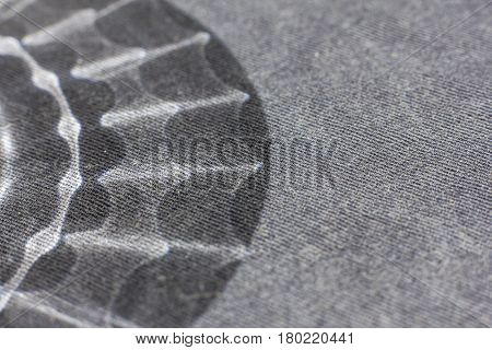 Black And White Background From A Soft Textile Material. Sheeting Fabric With Natural Texture