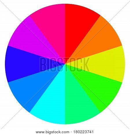 template wheel of fortune, color palette, vector