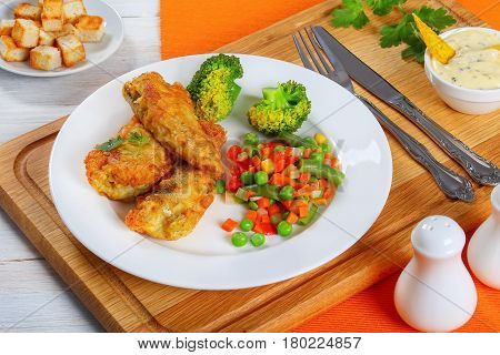 Fish Fillets With Mix Of Steam Cooked Vegetables