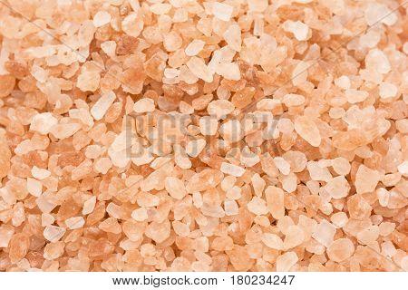texture of himalayan salt as background, close up