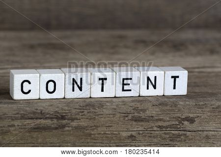 Content, Written In Cubes