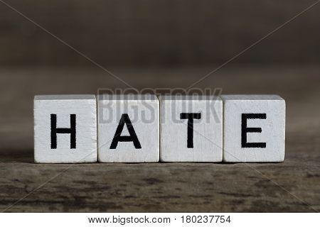 Hate, Written In Cubes