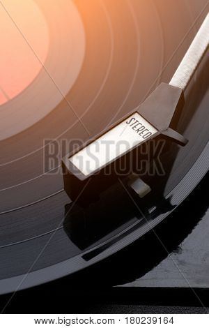 Photo of music vinyl player