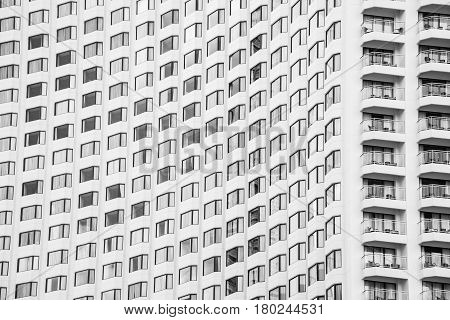 Hight Glass Window Pattern Of Modern Building For Abstract Background. Facades Texture Pattern For B