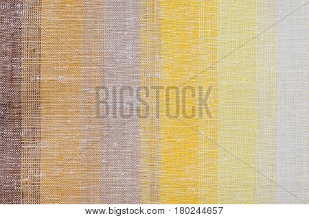 Natural background from rough Ukrainian variegated linen cloth