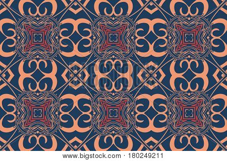 on an abstract background texture Retro symmetrical pattern design elements geometric figures