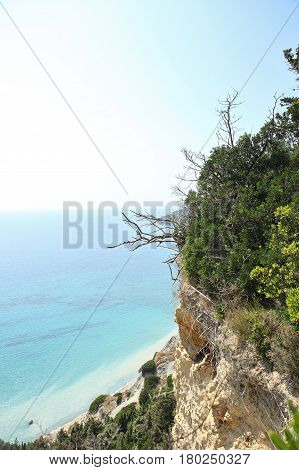 mountain and crystal blue sea paradise island dream come true