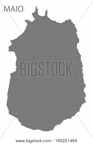 Maio Cape Verde Municipality Map Grey Illustration Silhouette