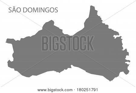 Sao Domingos Cape Verde Municipality Map Grey Illustration Silhouette