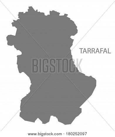 Tarrafal Cape Verde Municipality Map Grey Illustration Silhouette