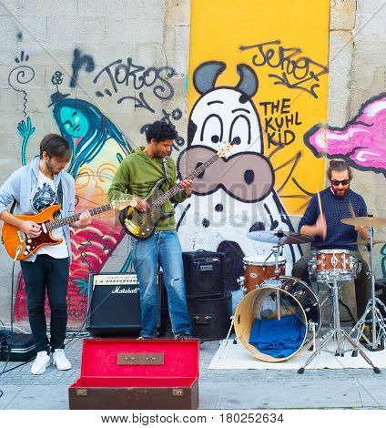 Street Music Band Performs