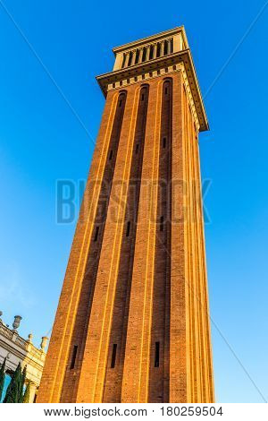 The Venetian Tower During Sunset - Barcelona Catalonia Spain Europe