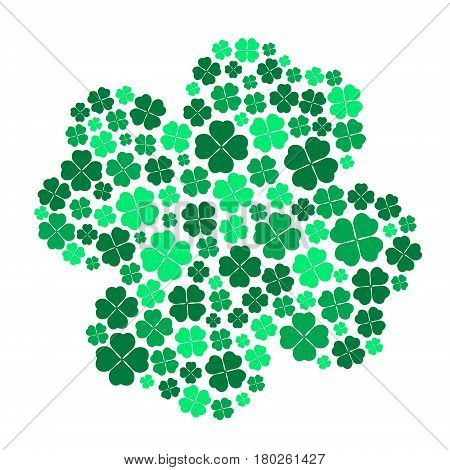 Lot Of Various Green Cloverleaf For Happy Eps10