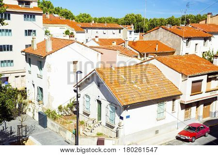Perpignan FRANCE :14 July 2014 : Roofs old town of France.