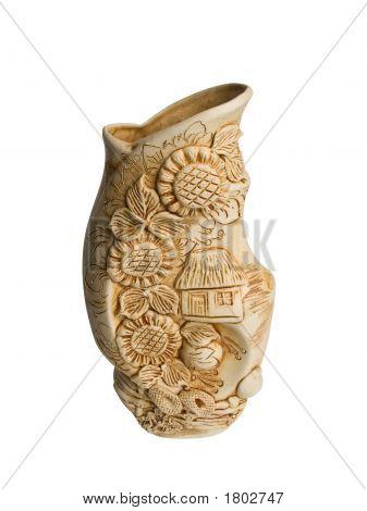 Vase1 On A White Background