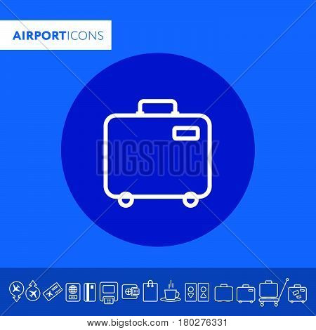 Baggage Icon. Airport Travel Trip And Tourism Theme. Isolated Design. Vector Illustration
