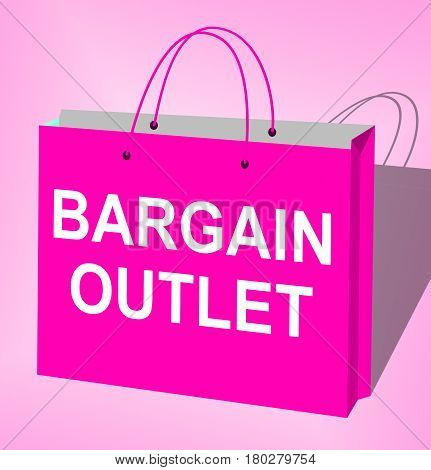 Bargain Outlet Displays Market Discount 3D Illustration