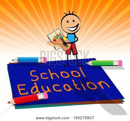 School Education Displays Kids Education 3D Illustration