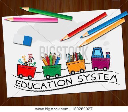 Education System Meaning Schooling Organization 3D Illustration