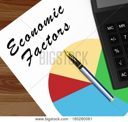 Economic Factors Meaning Financial Features 3D Illustration