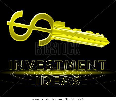 Investment Ideas Means Investing Tips 3D Illustration
