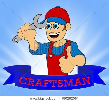 House Craftsman Representing Home Handyman 3D Illustration