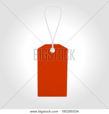 Red Tag label with sale 50 off for seasons design. Vector  Tag label illustration tamplate. Tag label