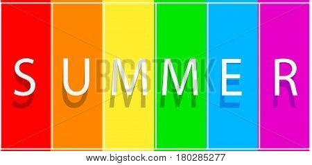 Summer sale banner on spectrum colorfull background. Summer  sale banner. Vector illustration template design Summer sale