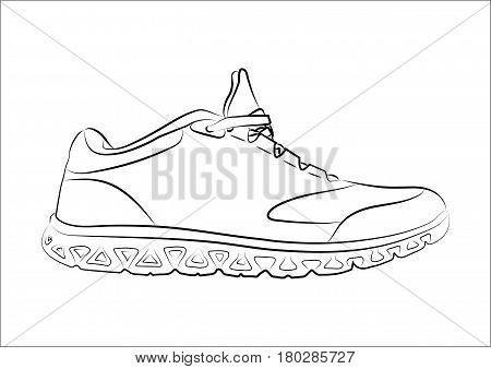 Sketch doodle sneakers for your creativity. Vector illustration.