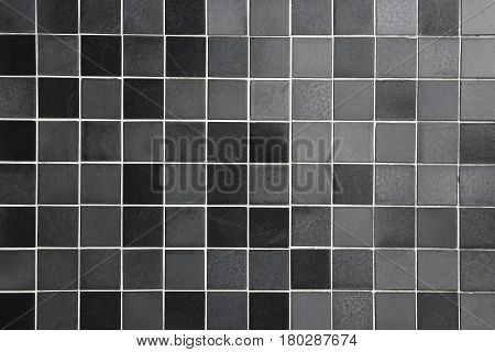 tiled background with square tiles in different shades of black and gray