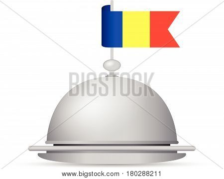 a red blue and yellow romanian flag dinner platter
