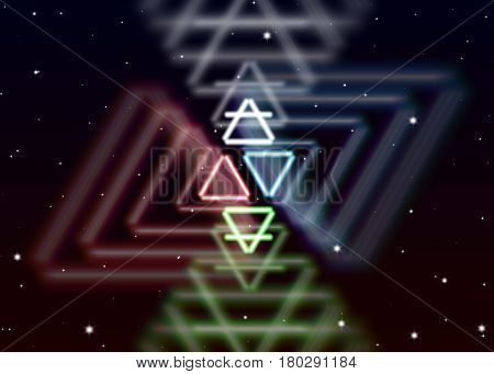 Magic elements symbol spreads the mystic energy in spiritual space