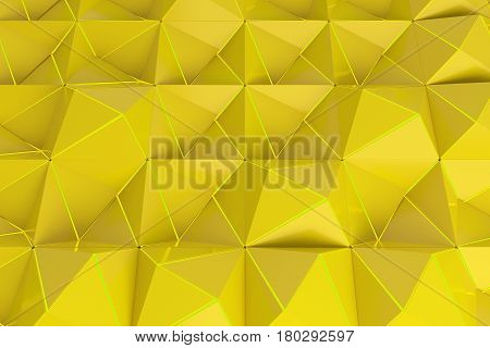 Pattern Of Yellow Pyramid Shapes