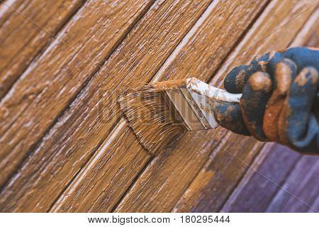 Painting Wooden Door, Updates Appearance. Ukraine.