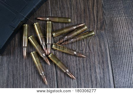 Group of   ammunition and magazines 223 rem