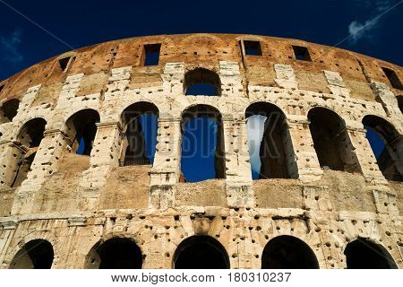 Colosseum in Rome, Italy. Low angle view.